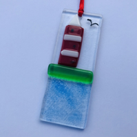 Smeatons lighthouse glass hanging decoration