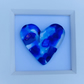 Fused glass cast heart