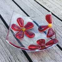 Fused glass trinket dishes