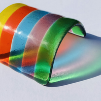 Fused glass mini rainbow bridge