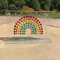 Rainbow of hope freestanding picture
