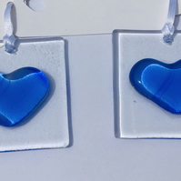 Fused glass thinking of you heart