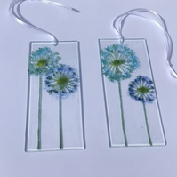 Fused glass make a wish decorative hanging