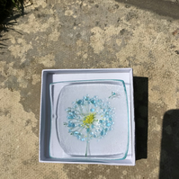Fused glass trinket dish Make a wish design