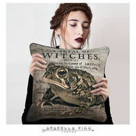 Magical Toad Witchcraft Familiar Nature Spirit Cushion with Free Cushion Pad
