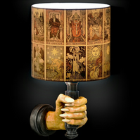 Tarot Card Lamp Shade Feat. 22 Major Arcana Rider-Waite Tarot Card Illustrations
