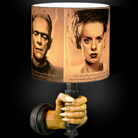 Frankenstein and Bride of Frankenstein's Monster, Spooky Horror Lampshade