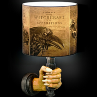 Magical Witchcraft Familiar Nature Spirit Lamp Shade Gothic Halloween Home Decor