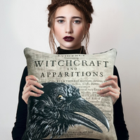 Magical Raven Witchcraft Witch Familiar Nature Spirit Cushion Cover & Pad