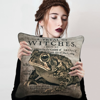 Magical Toad Witchcraft Witch Familiar Nature Spirit Cushion Cover & Cushion Pad