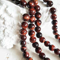 8mm red tiger eye stone round beads