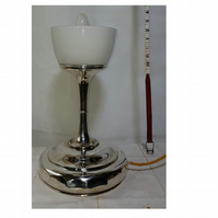 Silver Plated Stem Table Light - upcycled from a Vintage Tazza