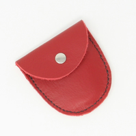 Small soft red leather purse