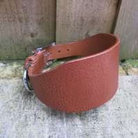 Hand-stitched Italian leather greyhound collar