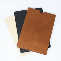 Leather kindle sleeve; choice of brown, tan, black or natural cream leather