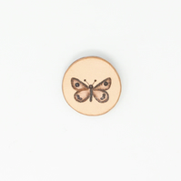 Leather butterfly brooch