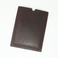 """Leather tablet sleeve to fit 9.7"""" iPad; choice of brown, tan or black"""