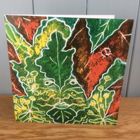 Green Man in the Garden - charity greeting card