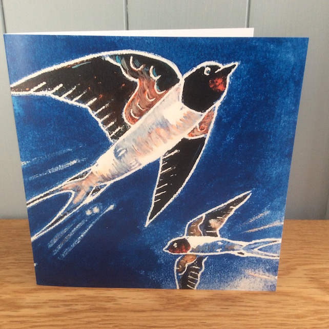 The Swallows of Summer - charity greeting card