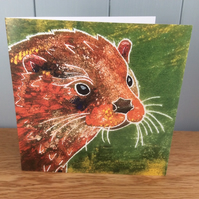 Ultra - charity greeting card showing an otter