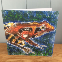 Speckled Frog - charity greeting card of a good looking frog