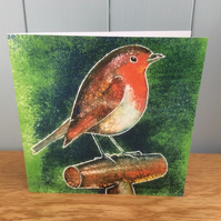 Robin Redbreast - charity greeting card of a Robin