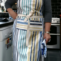 Smart Striped Cook's Apron