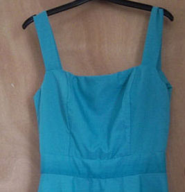 Teal Ladiers Summer Dress