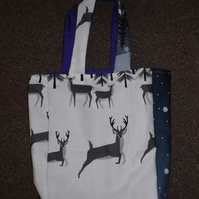 Prancing Deer Christmas Gift Bag