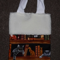 Cats Bookcase Christmas Gift Bag