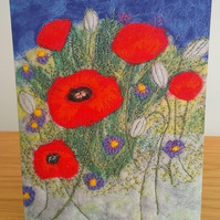 Poppy & Cornflower Greeting Card, Image From Original Artwork