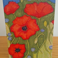 Poppy Design Greeting Card From Original Illustration
