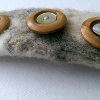 SALE Natural Wool Hair Clip