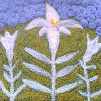 Needle Felted Lily Picture