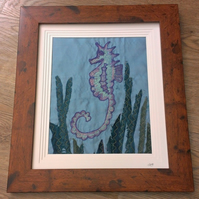 Seahorse Machine Embroidered Picture 'Angelo'