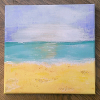 Seascape Original Painting, Acrylic On Canvas