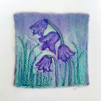 Bluebell Needle Felted & Embroidered Picture