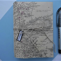 Portugal - vintage chart book travel record nautical sketch diary notes