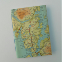 Notebook Shetland Isles Northmaven Delting Out Skerries Ronas Hill map vintage