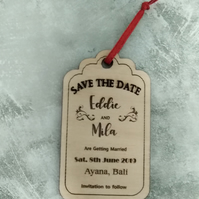 Save the Date Magnet, Luggage Tag