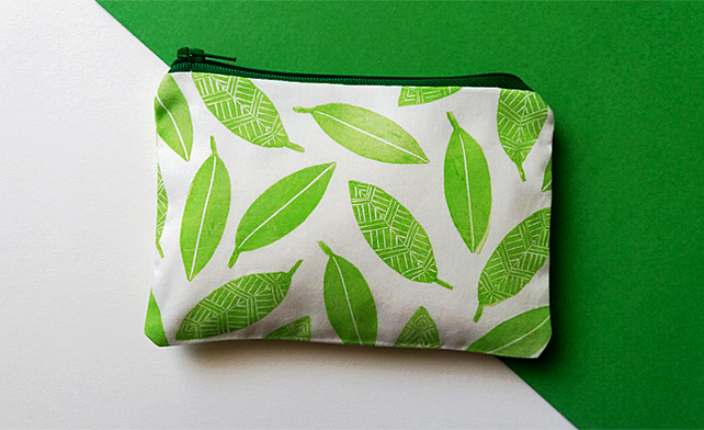 Green Leaves Coin Purse