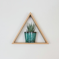 Triangle Shelf - Floating Shelf - Solid Oak - Shelving - Wall Art