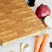 Chopping Board - End Grain - Handmade Cutting Board - Brick Pattern - Kitchen