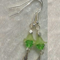 BEAD EARRINGS. 6 cms. Handmade in the UK.