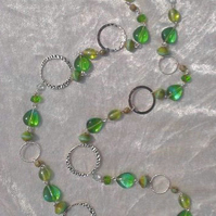 BEAD NECKLACE, Long Length. Unique design from Blue Hills Jewellery. Somerset.