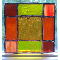 STAINED GLASS PANEL  4 x 4 ""