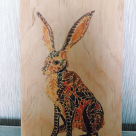 Rustic animals printed on wood