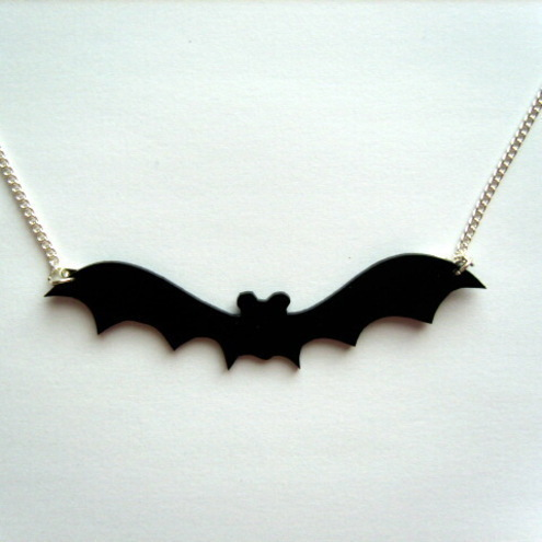 Black Bat Necklace