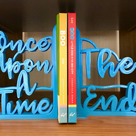 Once Upon a Time, The End - 3D Printed Decorative Lightweight Bookends