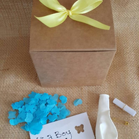 Its a Boy, Gender reveal, balloon in a box, pop the balloon,baby shower